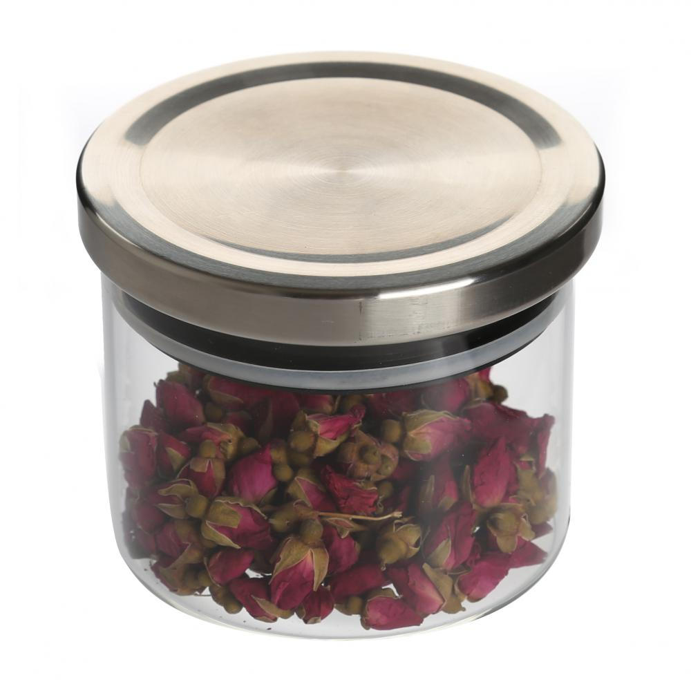 Wood Lids Heat Resistant Glass Store Jars