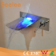 New Style LED Waterfall Single Lever Handle Bathtub in-Wall Water Tap Mixer Powered by Water Pressure Qh0500wsf
