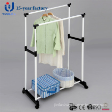 Powder Coated Double Pole Clothes Hanger