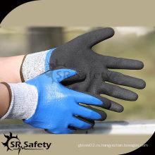 SRSAFETY 13G Трикотажные разрезные нитриловые перчатки / Защита от обрезки Нитриловые перчатки / Антирежущие перчатки