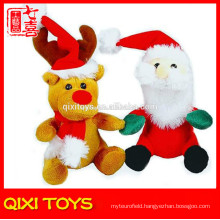 Christmas santa&reindeer stocking fillers gift stuffed plush christmas ornaments