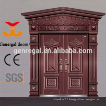 Luxury Chinese style Aluminum cast entrance doors