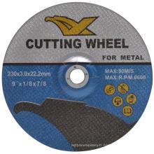Disques de coupe abrasifs de résine 912 'en angle En12413 de résine pour le métal