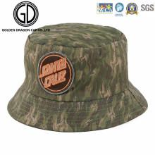 Sombrero de camuflaje verde de Camo de calidad superior con la insignia del bordado