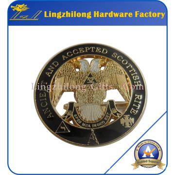 Material de metal en stock Pin Masonic Lodge