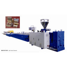 Extruder machine for plastic products