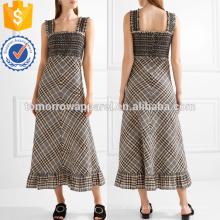 Разноцветные хлопок в полоску Макси платье OEM и ODM Производство Оптовая продажа женской одежды (TA7113D)