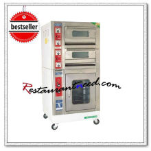 K707 Mini Type 2 Layer 2 Tray Spray Painted Electrical Deck Baking Oven With Proofer