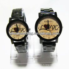 Relógio de quartzo com banda de aço inoxidável para amante JW-28