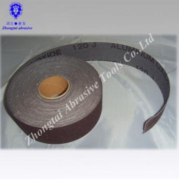 """Rouleau de tissu abrasif doux et étroit de 1,5 """"x50 mètres utilisé à la main"""