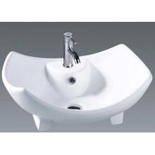Lavabo de lavabo de lavabo en céramique de salle de bain unique (037)