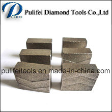 Segment dur de diamant de soudure de roche de soudure à haute fréquence