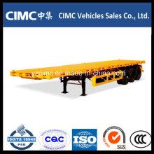 Semirremolque de contenedor plano Cimc 40FT de 3 ejes en venta caliente