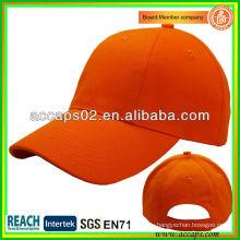 Plain Orange 6 Panel Baseball Caps Für Verkauf ABC-1237