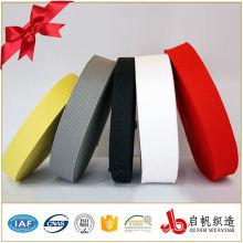25mm schwarzes oder buntes unelastisches Polyestergewebe für Kleidungsstück