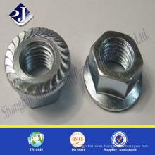 ASME standard flange nut Good quality hex flange nut Flange nut zinc plated