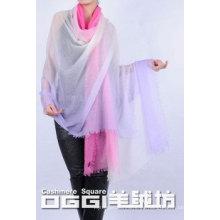 Shawl 100% de cachemira Tie-dyeing de las señoras delgadas estupendas