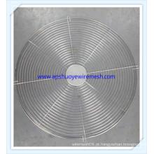 Protetor redondo do fã do fio espiral de aço inoxidável da tampa elétrica do fã