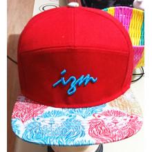 100% algodón 5 paneles bordados deportivos gorra de béisbol