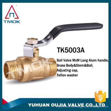 TMOK 2 piezas de rosca macho válvula de bola de latón dn20 válvula de bola de agua sanitaria DN15-DN100 bola válvula de palanca manija