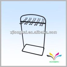 3 geschleppte Stöpsel hängende Zähler Draht Socken Snack Display Rack