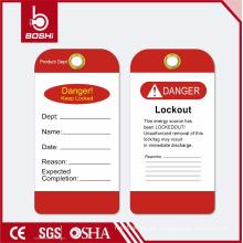 Lockout Tag für Industrie Sicherheit BOSHI BD-P12, 5 Farben erhältlich