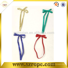Colorful elastic string gift bow tie