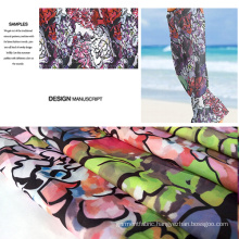 Small MOQ New Design Printed Beachwear/ Casual Garment Fabric