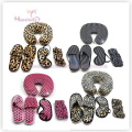 Neck Pillow, Bath Slippers, Eye Cover, Bath Set