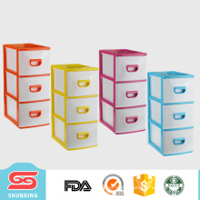 Durable multipurpose 3 layer small storage cabinet plastic with high quality