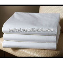 polycotton T180 percale ropa blanca comercial sábanas planas