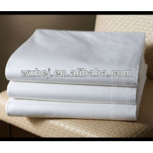 polycotton T180 percale commercial laundry white flat sheets