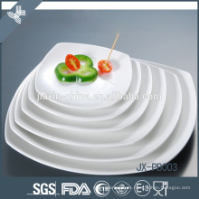 Plato cuadrado superventas, vajilla de porcelana blanca