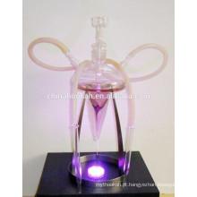 GH080-LT belo cachimbo de água de vidro chicha / shisha / pipa nargile / tubo de água / com luz led / sheesha / narguile