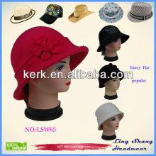 LSW65 Hot New Winter Fancy Hat 100% pure women fedora ladies custom cycling cap