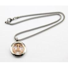 Nuevo diseño de plata Living Locket Necklace Jewelry