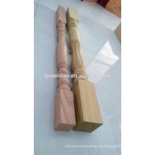 Barandilla de roble rojo antiguo tallado a mano interior barandilla de madera