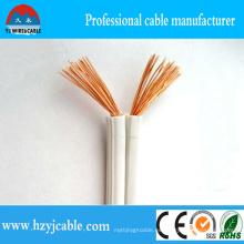 Cobre puro No-Sheathed el cable gemelo de la base Spt, cable paralelo flexible, alambre de la lámpara de 18 AWG