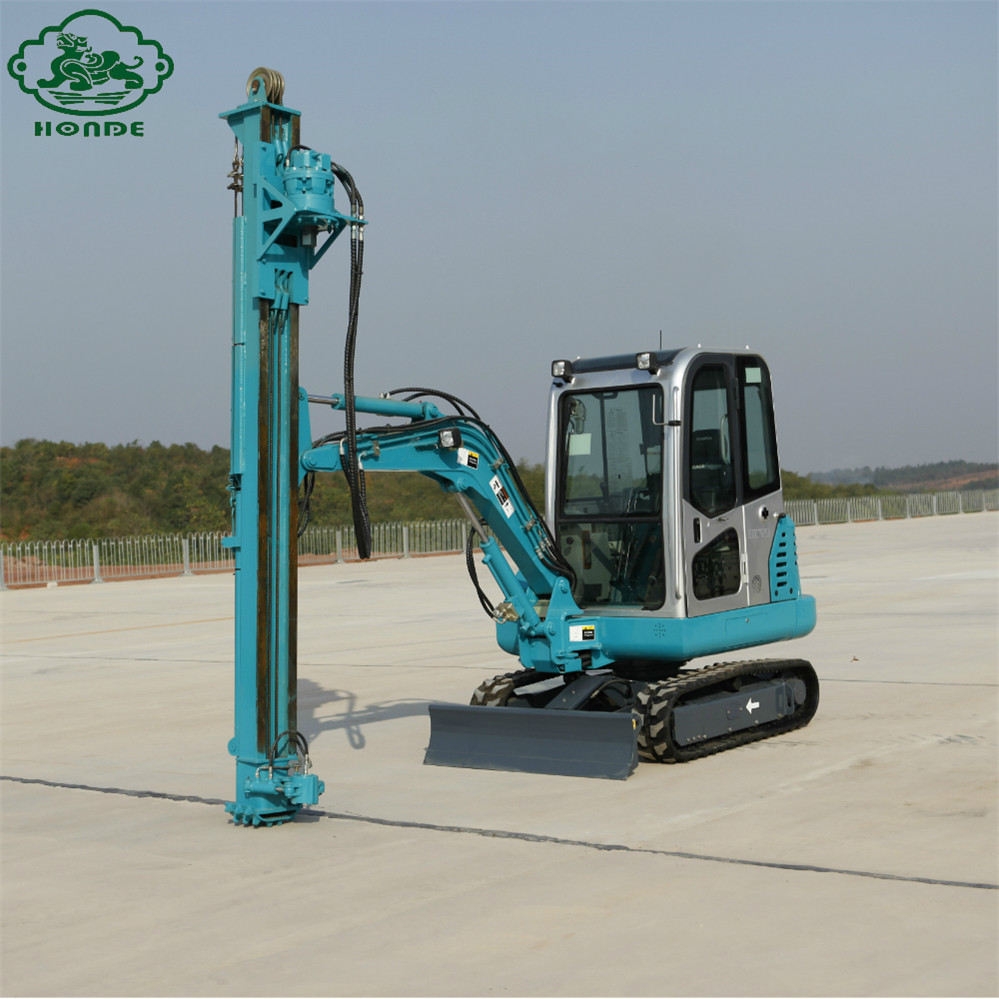 Pile Driver Machine For Solar
