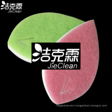 Scouring Pad of Leaf Shape