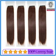 High Quality Dark Brown Color 18inch 20inch Brazilian Hair Cotton Knot Thread Hair Extensions Human Hair Remy Hair Virgin Hair
