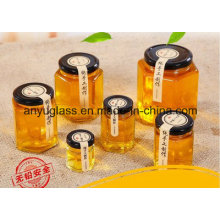 Hexahedron Glass Jars for Honey Food Jam with Different Size