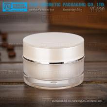 YJ-A30 30g bonito perla blanco buena calidad alta cilindro claro 30ml crema tarro de acrílico