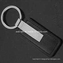 Leather Keychain métal