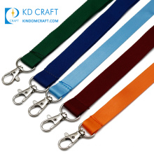Free sample personalizado cheap plain breakaway woven silk screen printed adjustable blank polyester neck lanyard custom logo
