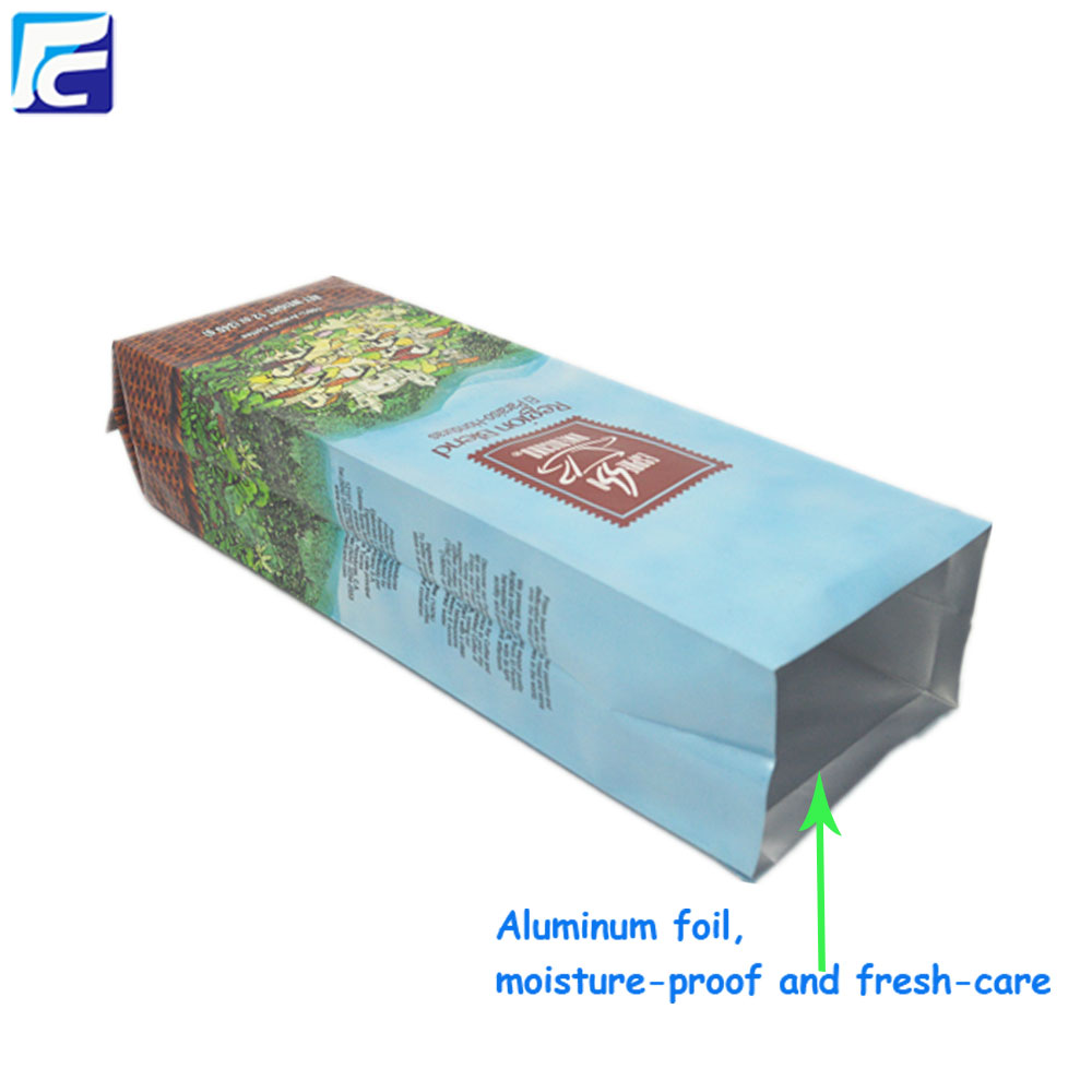 Customized side gusset aluminum foil coffee pouch bags