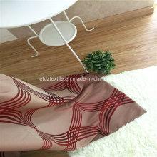 Tissu de rideau à rayures en polyester de couleur rouge traditionnel