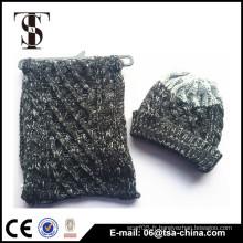 Promotion en gros de haute qualité chaude chapeau cadeau de Noël chapeau et écharpe hiver tricot chapeau et écharpe