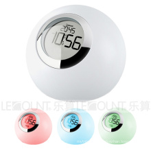 LED Atmosphere Night Light with Time Clock and Alarm Clock (LNT010A)
