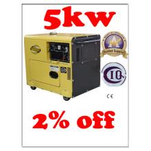 Gerador diesel silencioso do cilindro único 5kw BV SGS ISO CE